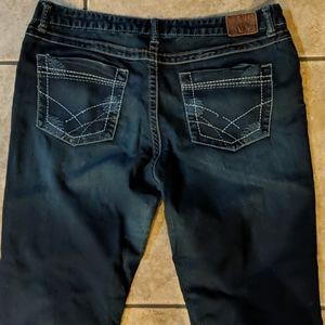 BKE Wendi bootcut jeans TALL 34x35.5L Buckle euc